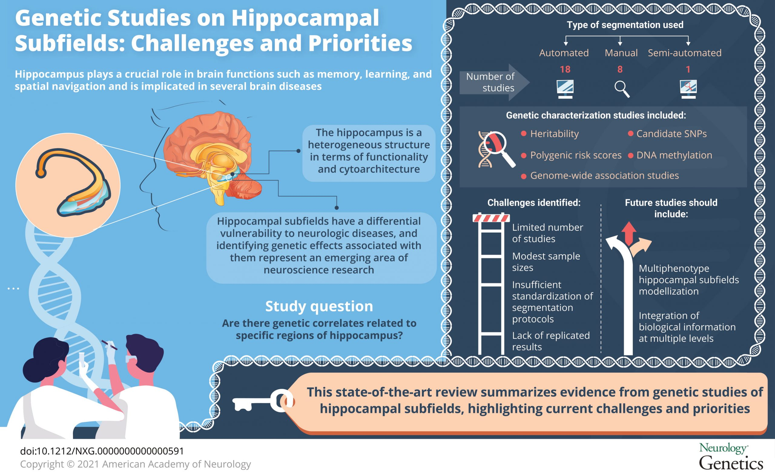 Review on genetic influences on hippocampal subfields published in Neurology Genetics